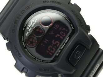 Casio reimport G shock digital watch マットブラックレッドアイ black polyurethane belt DW-6900MS-1