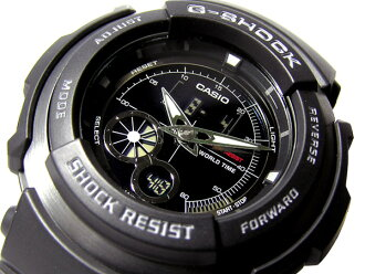CASIOカシオ Gショック アナログ×デジタルWrist watch Black 海外Model G-301B-1A