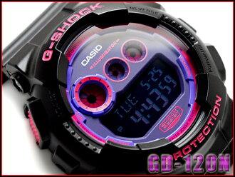 카시오 G 쇼크 지 쇼크 역 수입 해외 모델 디지털 시계 퍼플 블랙 GD-120N-1B4DR GD-120N-1B4CR GD-120N-1B4
