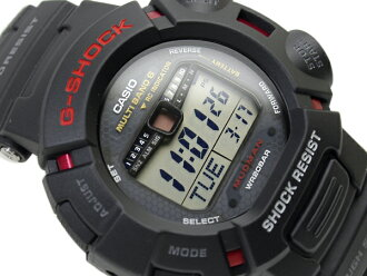 Madman Casio Japan model G shock digital watch tough solar and multi-band 6 with black urethane belt GW-9010-1