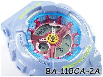 베이비 G BABY-G CASIO 카시오 아날로그-디지털 시계 블루 BA-110CA-2ACR BA-110CA-2A