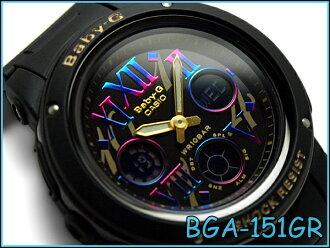 Casio baby G Cosmic Index Series cosmic index series reimport foreign models an analog-digital watch black BGA-151GR-1BCR BGA-151GR-1B