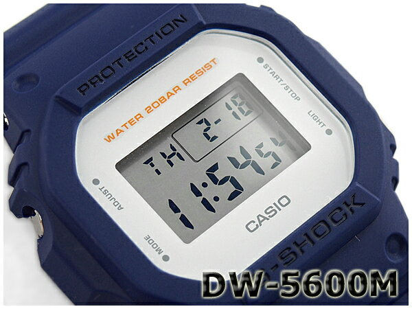 【ポイント2倍!!+送料無料!】G-SHOCK Gショック ジーショック 5600系 カシオ CASIO ミリタリー・シリーズ デジタル 腕時計 ネイビー DW-5600M-2CR DW-5600M-2