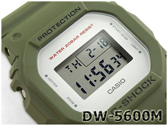 G-SHOCK G 충격 지 쇼크 5600 계 카시오 CASIO 밀리터리 시리즈 디지털 시계 카 키 그린 DW-5600M-3CR DW-5600M-3