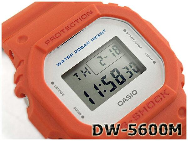 G-SHOCK Gショック ジーショック 5600系 カシオ CASIO ミリタリー・シリーズ デジタル 腕時計 オレンジ DW-5600M-4CR DW-5600M-4