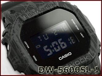 "G-震撼 G 衝擊""限量版凱西歐凱西歐斜線圖案系列轉發斜線、 圖案、 系列數位手腕看黑 DW 5600SL 1ER DW-5600SL-1"