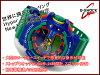 CASIO G-SHOCK 카시오 G 쇼크 지 충격 제한 역 수입 해외 모델 Hyper Colors ハイパーカラーズ-디지털 시계 그린 네이 비 GA-400-2AER GA-400-2A