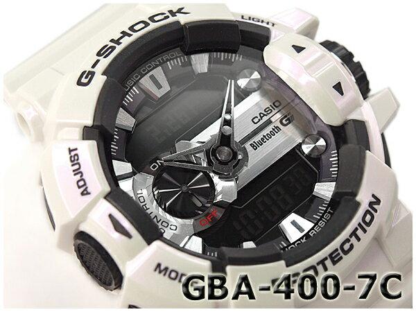 Gショック ジーショック G-SHOCK カシオ CASIO 限定モデル ジーミックス G'MIX Bluetooth スマフォ連携モデル 逆輸入海外モデル アナデジ 腕時計 ブラック メタリックホワイト GBA-400-7CCR GBA-400-7C
