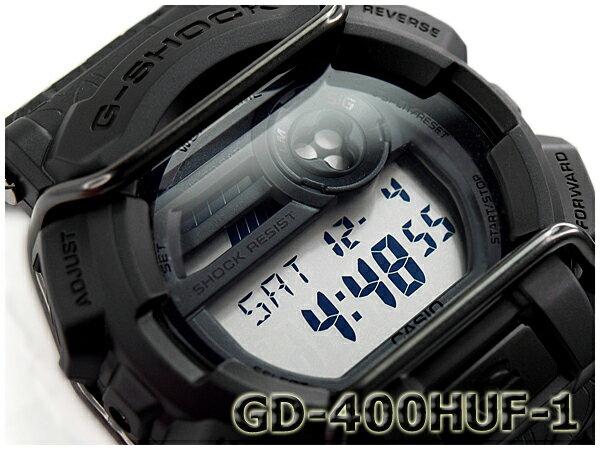 [訳有り 外箱に破損有り]G-SHOCK Gショック ジーショック キース・ハフナゲル HUF 限定モデル CASIO カシオ デジタル 腕時計 ブラック GD-400HUF-1CR GD-400HUF-1