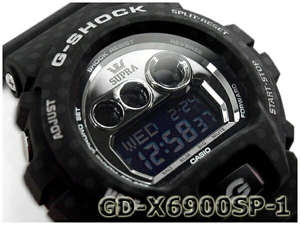 [訳有り 外箱に破損有り]G-SHOCK Gショック ジーショック SUPRA スープラ 限定モデル CASIO カシオ デジタル 腕時計 ブラック ドット柄 GD-X6900SP-1CR GD-X6900SP-1