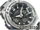 【送料無料+ポイント2倍!】カシオ Gショック Gスチール CASIO G-SHOCK G-STEEL ソーラー アナデジ メンズ 腕時計 ブラック シルバー GST-S110-1ADR GST-S1