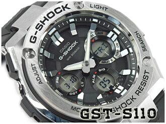 카시오 G 쇼크 G 스틸 CASIO G-SHOCK G-STEEL 태양광-디지털 남자 시계 블랙 실버 GST-S110-1ADR GST-S110-1A