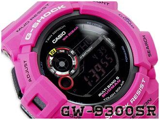 凱西歐 g 震撼凱西歐 G 衝擊有限反向海外模型 MUDMAN 瘋子男子客棧日出紫色波太陽射電手錶看紫色粉紅色 GW-9300SR-4CR GW-9300SR-4