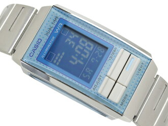 卡西歐海外モデルフューチャリストレディースデジタル手表淡藍色藍色撥盤LA-201W-2B