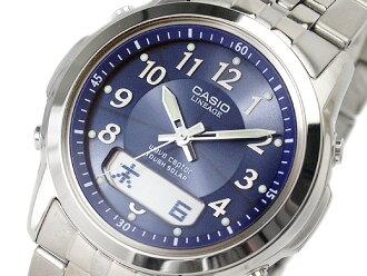 + 凱西歐堅韌太陽能收音機手錶沿襲 Waveceptor 藍色撥號國內模型低糖 100TDJ-2 A 2
