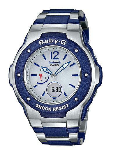 BABY-G ベビーG Tripper トリッパー CASIO カシオ 電波 ソーラー アナデジ 腕時計 シルバー ネイビー MSG-3300-2BJF【国内正規モデル】