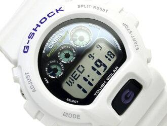 Casio G-Shock digital solar watch black dial white liquid crystal white urethane belt G-6900A-7 fs3gm