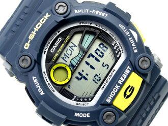 카시오 G쇼크 일본 미발매칼라 해외 모델 디지털 손목시계 그레이 블루×옐로우 우레탄 벨트 G-7900-2 DR