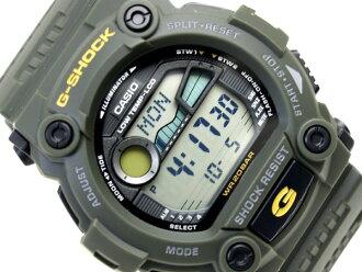 凱西歐 G 值衝擊日本發行的彩色海外模型數位手錶軍事卡其色綠色聚氨酯皮帶 G-7900-3 博士