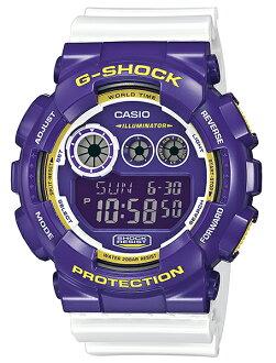 [5 年保修] 凱西歐 G 衝擊凱西歐 g 衝擊限量版模型瘋狂的顏色數位手錶紫色白色 GD-120CS-6JF x