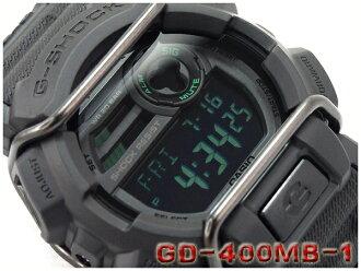 CASIO G-SHOCK 카시오 G 쇼크 Military black series 밀리터리 블랙 시리즈 디지털 시계 블랙 그린 GD-400MB-1CR GD-400MB-1