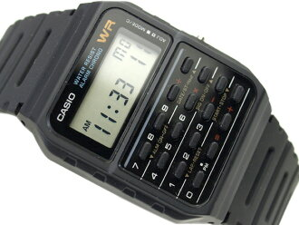 + Foreign monopoly model Casio calculator unisex digital watch black urethane belt CA-53W-1ZD