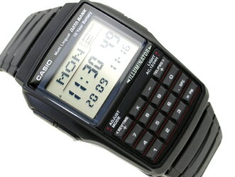 Overseas model Casio databank unisex digital watch black urethane belt DBC-32-1ADF