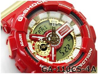 G 충격 시 충격 G-SHOCK 카시오 CASIO 한정 모델 クレイジーカラーズ Crazy Color 역 수입 해외 모델-디지털 시계 레드 골드 GA-110CS-4ADR GA-110CS-4A