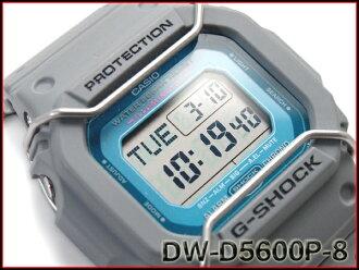 凱西歐 g 震撼凱西歐 G 衝擊導入外籍模特 5600 有限模型數位看灰色 DW D5600P 8ER DW D 5600 P-8