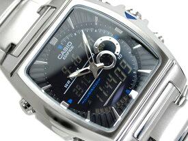 【CASIO EDIFICE】カシオ 海外モデル エディフィス アナデジ腕時計 ブラックダイアル ステンレスベルト EFA-120D-1AVDR EFA-120D-1A