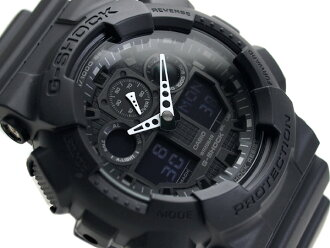 凱西歐重新導入外國模型 G 休克不用聚氨酯傳送帶 GA-100-1A1 類比-數位手錶表面無光澤黑色光澤