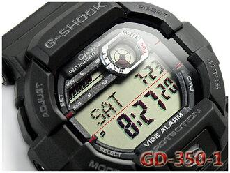 카시오 G 쇼크 지 쇼크 CASIO G-SHOCK 진동 기능 역 수입 해외 모델 디지털 남자 시계 블랙 레드 GD-350-1CR GD-350-1