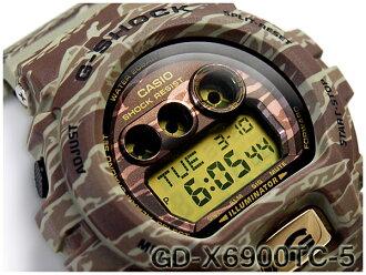 CASIO G-SHOCK 카시오 G 쇼크 한정 모델 Camouflage Series (위장 시리즈) 역 수입 해외 모델 디지털 시계 카 모 그린 GD-X6900TC-5CR GD-X6900TC-5