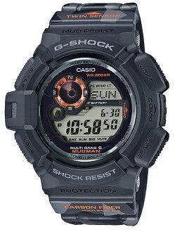 凱西歐 G 休克瘋子凱西歐 g 衝擊有限的 MUDMAN 模型男子在迷彩電台太陽能數位手錶黑灰色帶柄 GW 9300 釐米 1JR