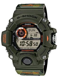 凱西歐 G 休克排列頭兒凱西歐 g 休克限量版模型男人-在-迷彩無線電太陽能數位手錶卡其色綠色與處理 GW-9400CMJ-3JR