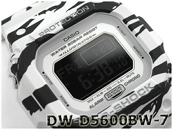 G-SHOCK Gショック ジーショック カシオ CASIO 限定モデル White and Black Series ホワイト&ブラックシリーズ デジタル 腕時計 ブラック ホワイト DW-D5600BW-7CR DW-D5600BW-7