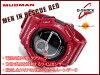 """凱西歐 g 震撼凱西歐 G 衝擊""""MUDMAN 瘋子男子在救援紅太陽數位看紅色的 G-9300RD-4 博士 g-9300RD-4"""
