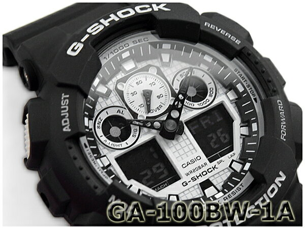 G-SHOCK Gショック ジーショック カシオ CASIO White and Black Series ホワイト&ブラックシリーズ アナデジ 腕時計 ブラック ホワイト GA-100BW-1ACR GA-100BW-1A