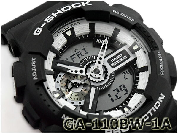 G-SHOCK Gショック ジーショック カシオ CASIO White and Black Series ホワイト&ブラックシリーズ アナデジ 腕時計 ブラック ホワイト GA-110BW-1ACR GA-110BW-1A