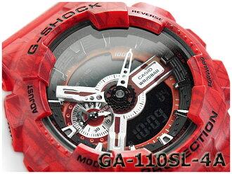 """遺傳演算法-110SL-4ACR g-休克 G 休克""""gshock 凱西歐凱西歐手錶紅色遺傳演算法類比-數位-110SL-4A"""