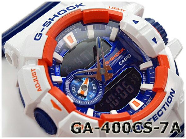 G-SHOCK Gショック ジーショック カシオ CASIO Crazy Colors クレイジーカラーズ アナデジ 腕時計 ホワイト ネイビー GA-400CS-7ACR GA-400CS-7A
