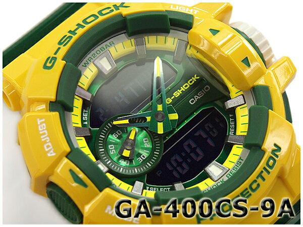 G-SHOCK Gショック ジーショック カシオ CASIO Crazy Colors クレイジーカラーズ アナデジ 腕時計 イエロー グリーン GA-400CS-9ADR GA-400CS-9A