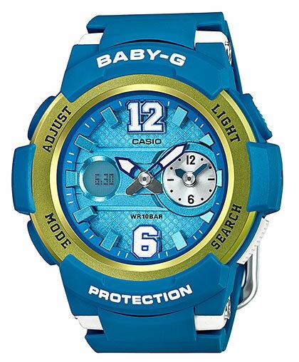 カシオ CASIO BABY-G ベビーG アナデジ レディース 腕時計 ブルー メタリックイエロー BGA-210-2BJF 国内正規品