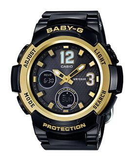 凱西歐凱西歐寶貝寶貝-g G 太陽射電類比數位女士手錶金黑色 BGA-2100年-1BJF 家真正