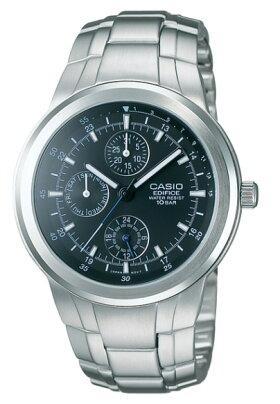 カシオCASIOEDIFICEエディフィスアナログ腕時計シルバーブラックEF-305D-1AJF国内正規品