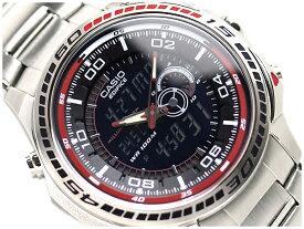 【CASIO EDIFICE】カシオ メンズアナデジ腕時計エディフィス ブラック&レッドダイアル ステンレスベルト EFA121D-1【あす楽】