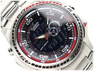 카시오멘즈아나데지 손목시계 에디피스브락크&렛드다이아르스텐레스베르트EFA121D -1