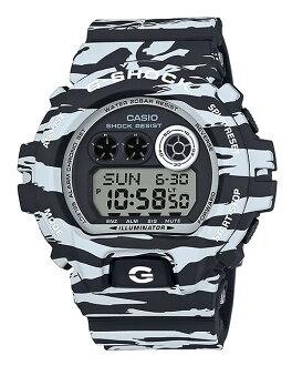 카시오 G 쇼크 CASIO G-SHOCK 한정 6900 화이트 & 블랙 타이거 오리 디지털 시계 화이트 아이스 블루 GD-X6900BW-1JF