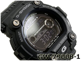 """Casio """"G shock wave solar digital watch-all black GW-7900B-1"""