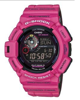 凱西歐 G 衝擊瘋子凱西歐 g 衝擊限量版 MUDMAN 男子客棧日出紫色波太陽射電手錶男裝看 GW-9300SR-4JF